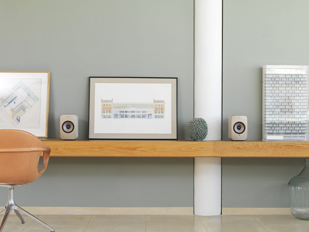 Kef LSX speakers photographed on location by Phil Sills